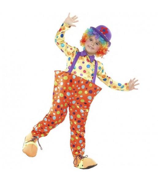 Disfraz de Payaso Colorines niño