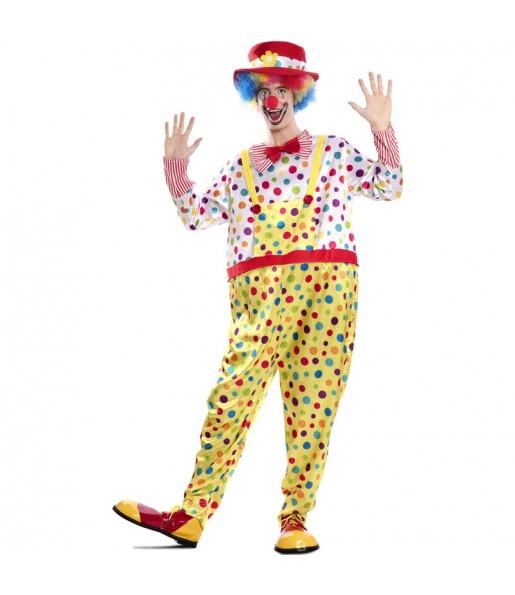 Disfraz de Payaso Multicolor adulto