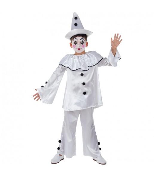 Disfraz de Payaso Pierrot para niño