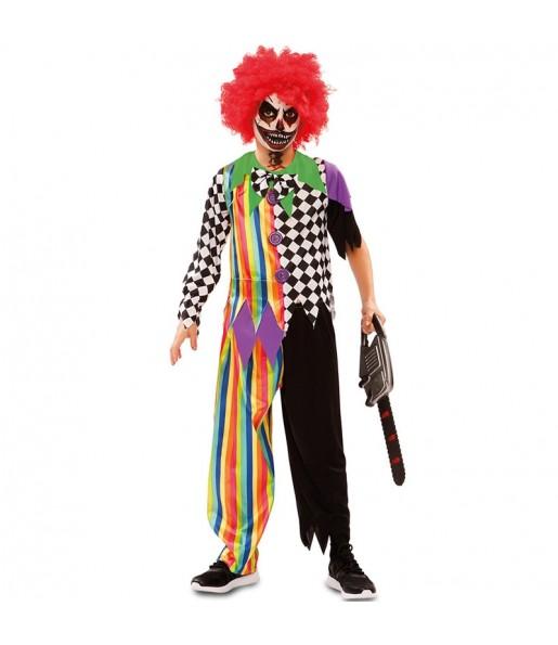 Disfraz de Payaso Siniestro para niño