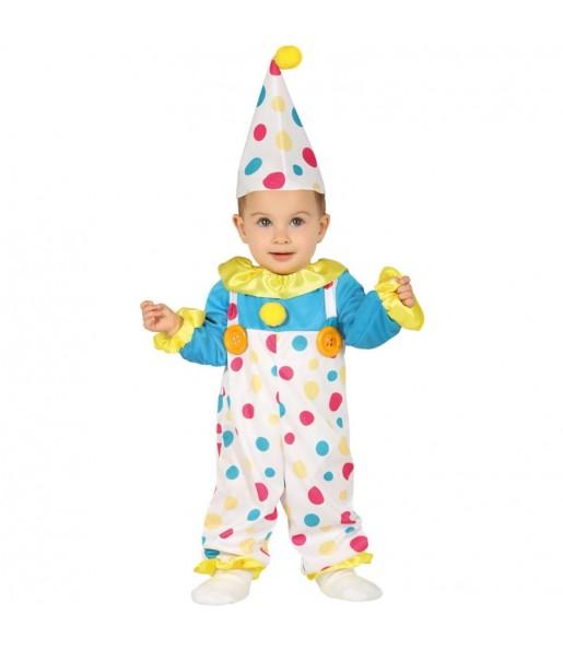 Disfraz de Payaso Topos para bebé