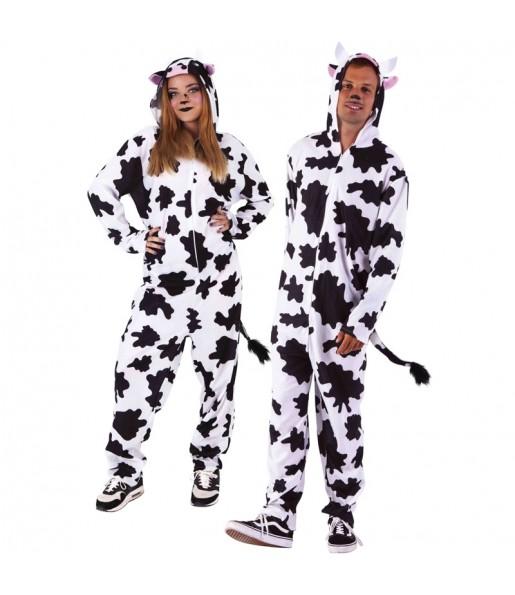 Disfraz de Pijama Vaca para adulto
