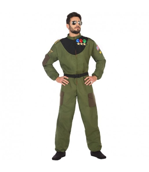 Disfraz de Piloto Caza para hombre