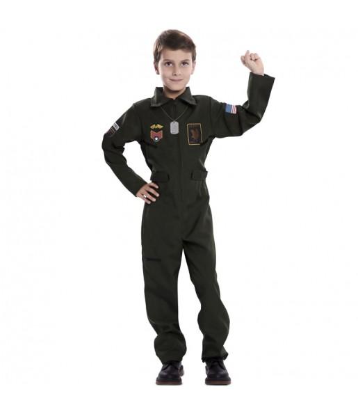 Disfraz de Piloto Caza para niño