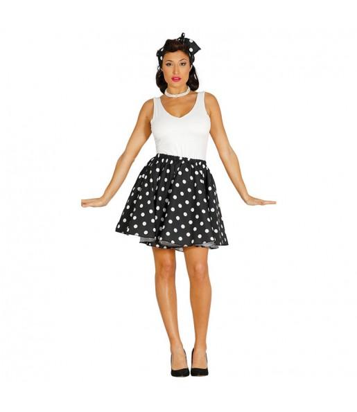 Disfraz de Pin Up Años 60 Negro para mujer