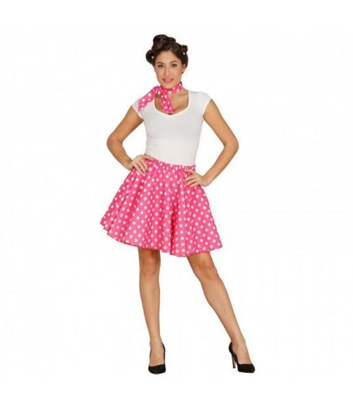 Disfraz de Pin Up Años 60 Rosa para mujer
