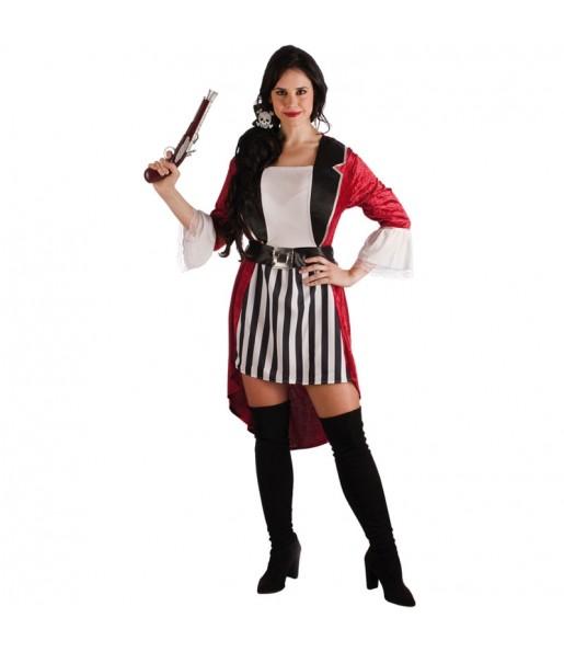 Disfraz de Pirata Barba Negra para mujer