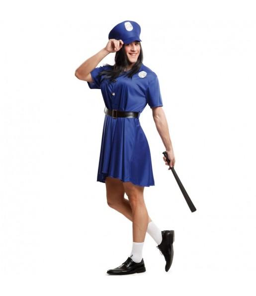 Disfraz de Policía Pechotes para hombre