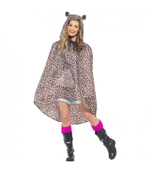 Disfraz de Leopardo Poncho Impermeable