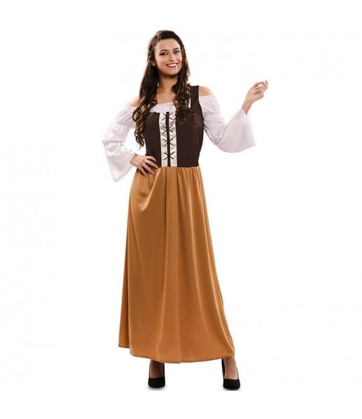 Disfraz de Posadera Medieval para mujer