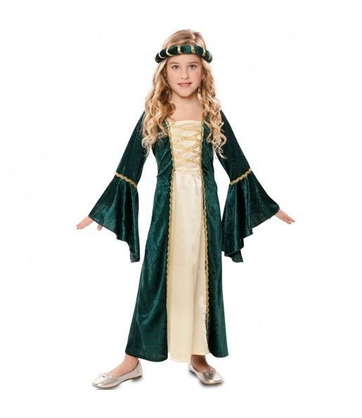 Disfraz de Princesa Real Verde para niña