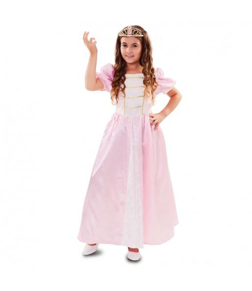 Disfraz de Princesa Rosa Lujo para niña