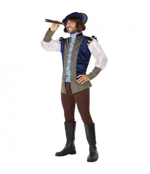 Disfraz de Principie Medieval Azul para hombre