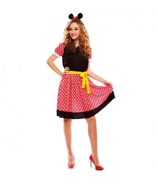 Disfraz de Ratita Minnie Mouse para mujer