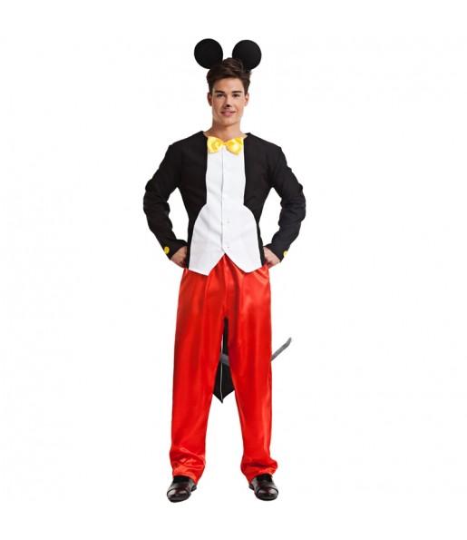 Disfraz de Ratón Mickey Mouse para hombre