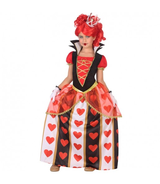 Disfraz de Reina Corazones Deluxe para niña