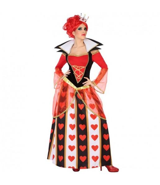 Disfraz de Reina Corazones Lujo para mujer