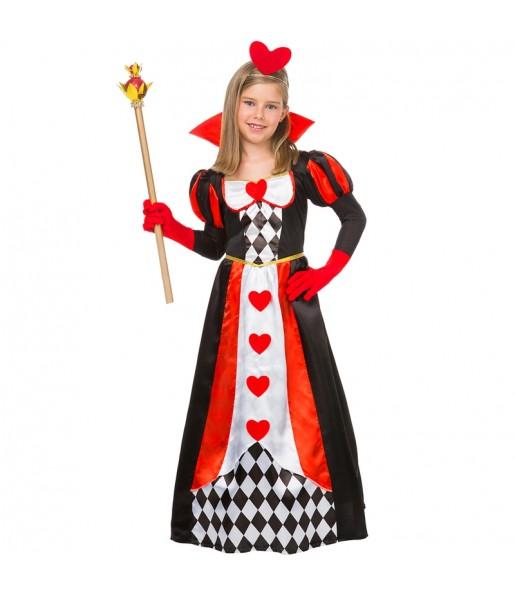Disfraz de Reina Corazones Lujo para niña