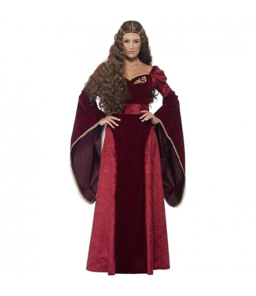 Disfraz de Reina Medieval Deluxe para mujer