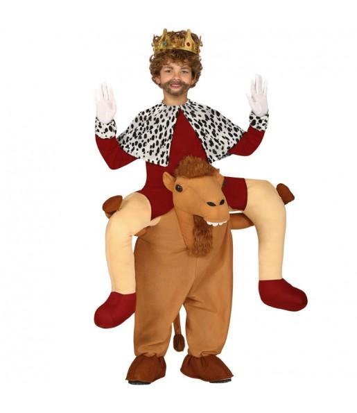 Disfraz de Rey Mago a hombros del camello para niños