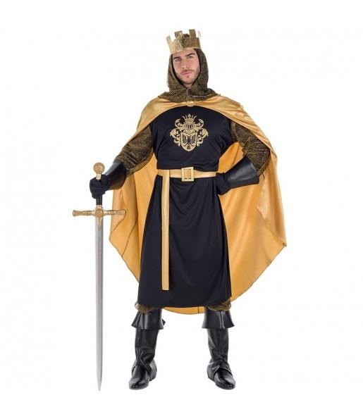 Disfraz de Rey Medieval Dorado para hombre