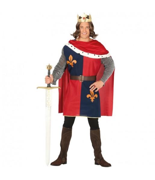 Disfraz de Rey Medieval Rojo para hombre