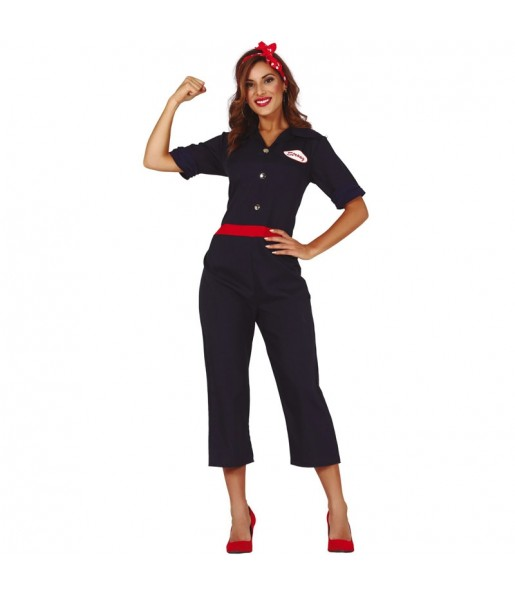 Disfraz de Rosie la Remachadora para mujer
