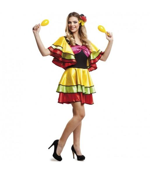 Disfraz de Rumbera Brasileña para mujer