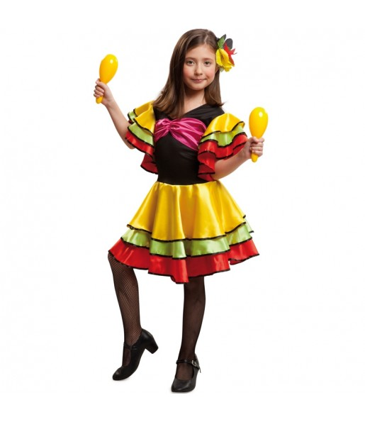 disfraz rumbera brasileña infantil