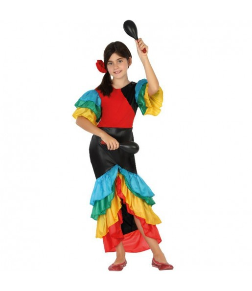 Disfraz de Rumbera Tropical Infantil