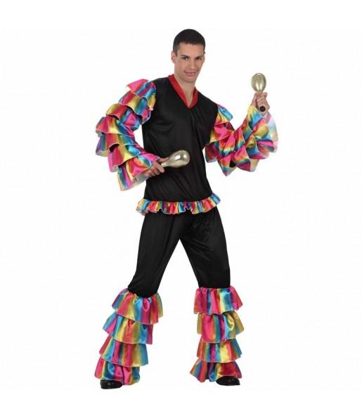 Disfraz de Rumbero Multicolor para hombre