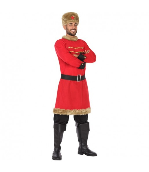 Disfraz de Ruso Rojo para hombre