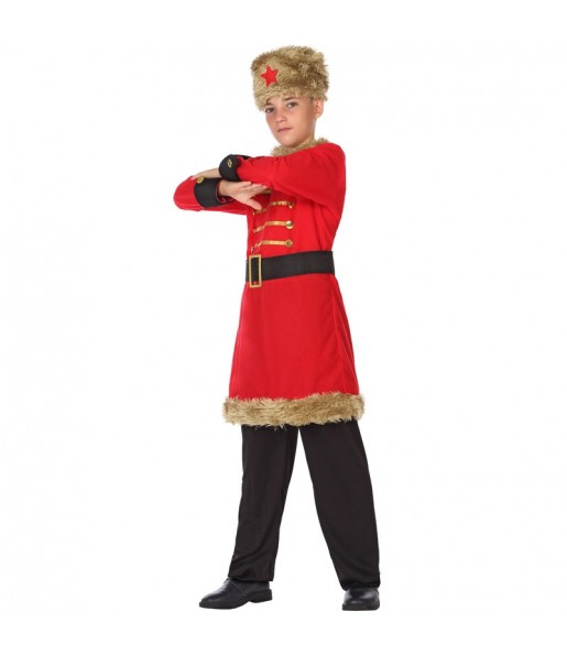 Disfraz de Ruso Rojo para niño