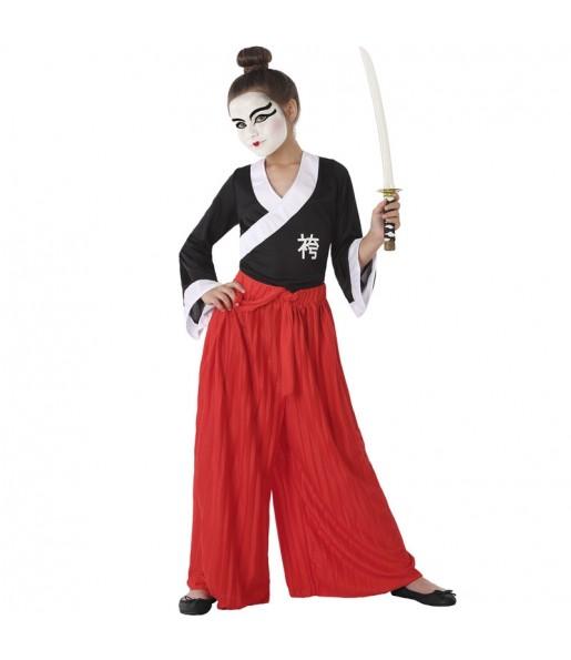 Disfraz de Samurái para niña