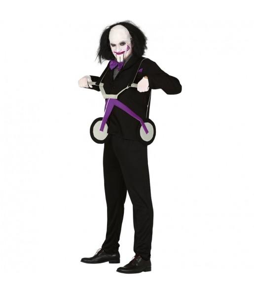 Disfraz de Saw con triciclo para hombre