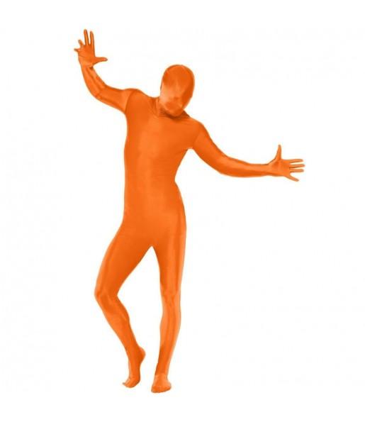 Disfraz de Segunda Piel Naranja para adulto