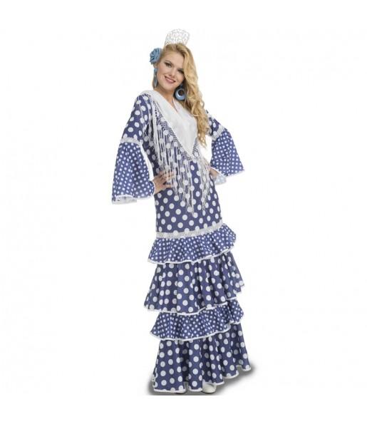 Disfraz de Sevillana Azul para mujer