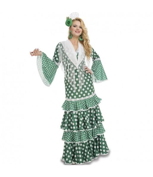 Disfraz de Sevillana Verde para mujer