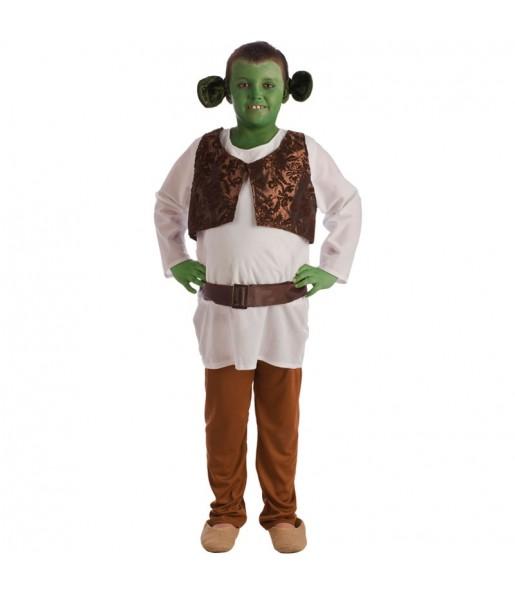 Disfraz de Shrek para niño