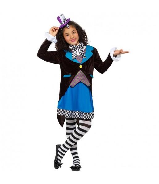Disfraz de Sombrerera Alicia País Maravillas para niña