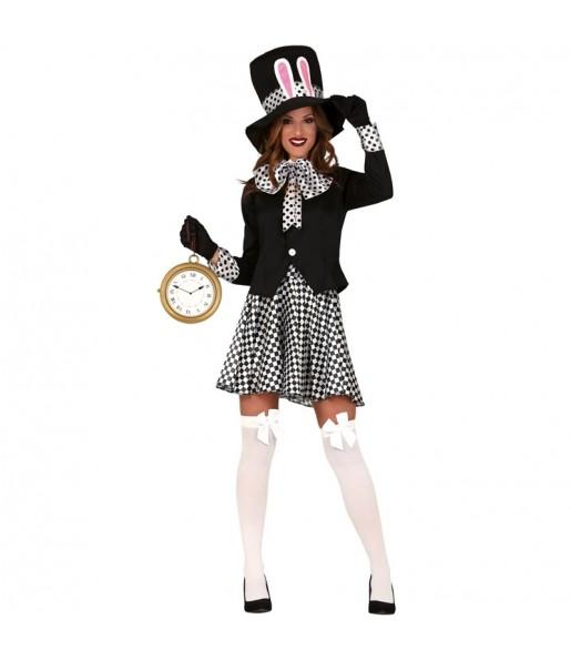 Disfraz de Sombrerera Loca Oscura para mujer