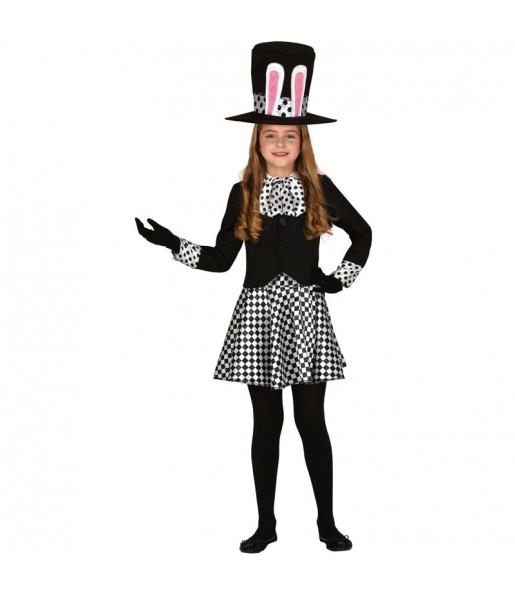 Disfraz de Sombrerera Loca Oscura para niña