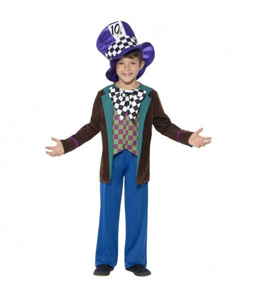 Disfraz de Sombrerero Alicia País Maravillas para niño