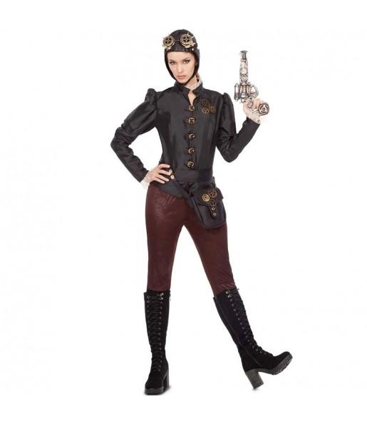 Disfraz de Steampunk Aviator para mujer