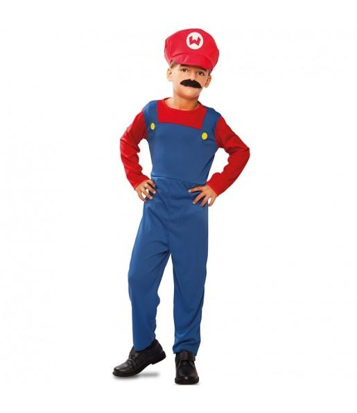 Disfraz de Fontanero Mario infantil