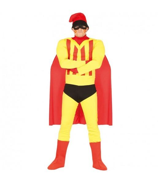 Disfraz de Supercat el héroe Catalán para adulto