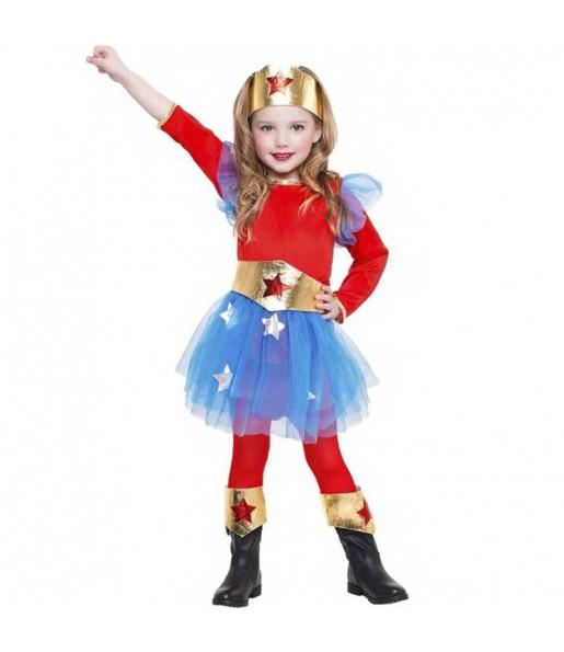 Disfraz de Superheroína Wonder Woman para niña