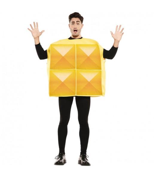 Disfraz de Tetris Amarillo para hombre
