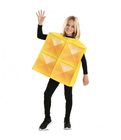 Disfraz de Tetris Amarillo para niños