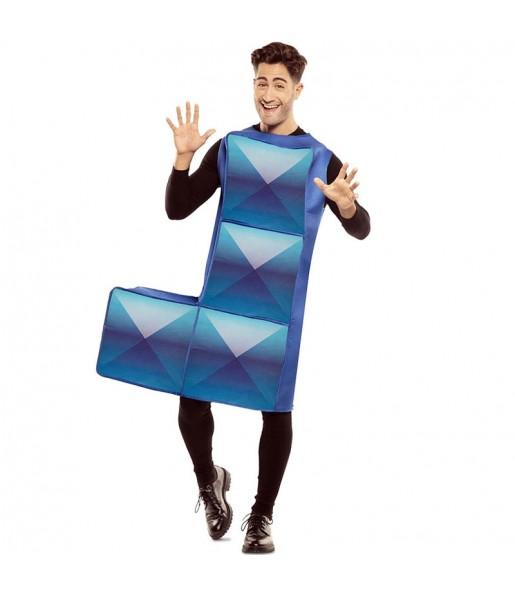 Disfraz de Tetris Azul Oscuro para hombre